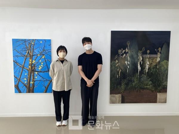 왼쪽부터 임지민 작가와 김대유 작가